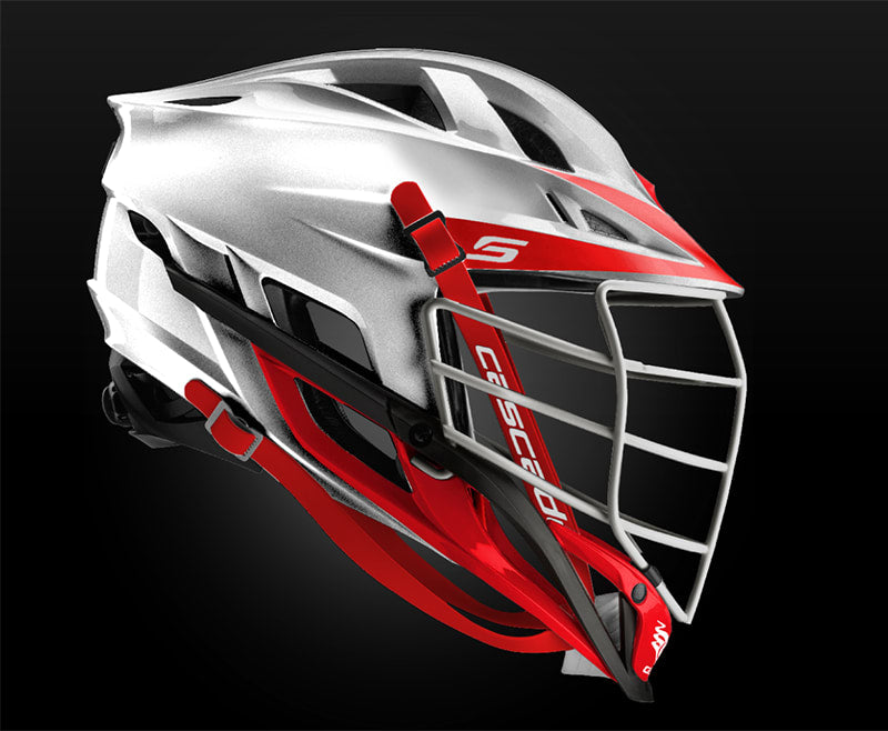Cascade S Helmet Platinum With White Pearl Mask - Customizable Custom Helmets