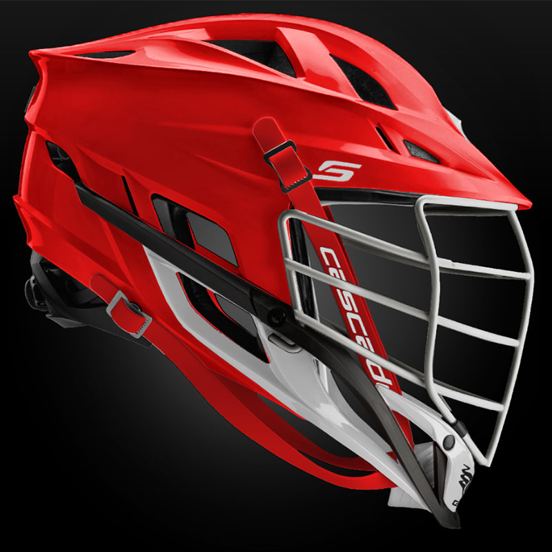 Cascade S Helmet White Pearl Mask - Customizable Custom Helmets