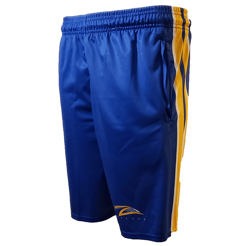 Lax Zone 3 Stripe 2.0 Lacrosse Short - Royal/Yellow/White