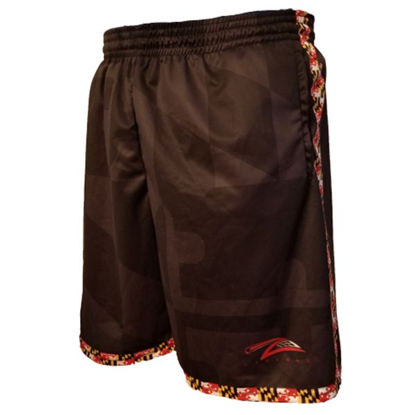 Lax Zone Maryland Flag Black Tonal Short Youth Small Shorts
