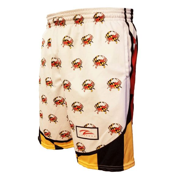 Lax Zone Maryland Flag Mini Crab Short Youth Small Shorts