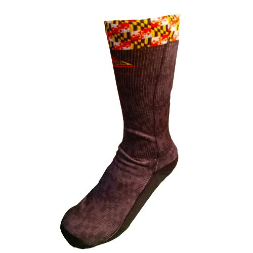 Lax Zone Maryland Flag Socks Small