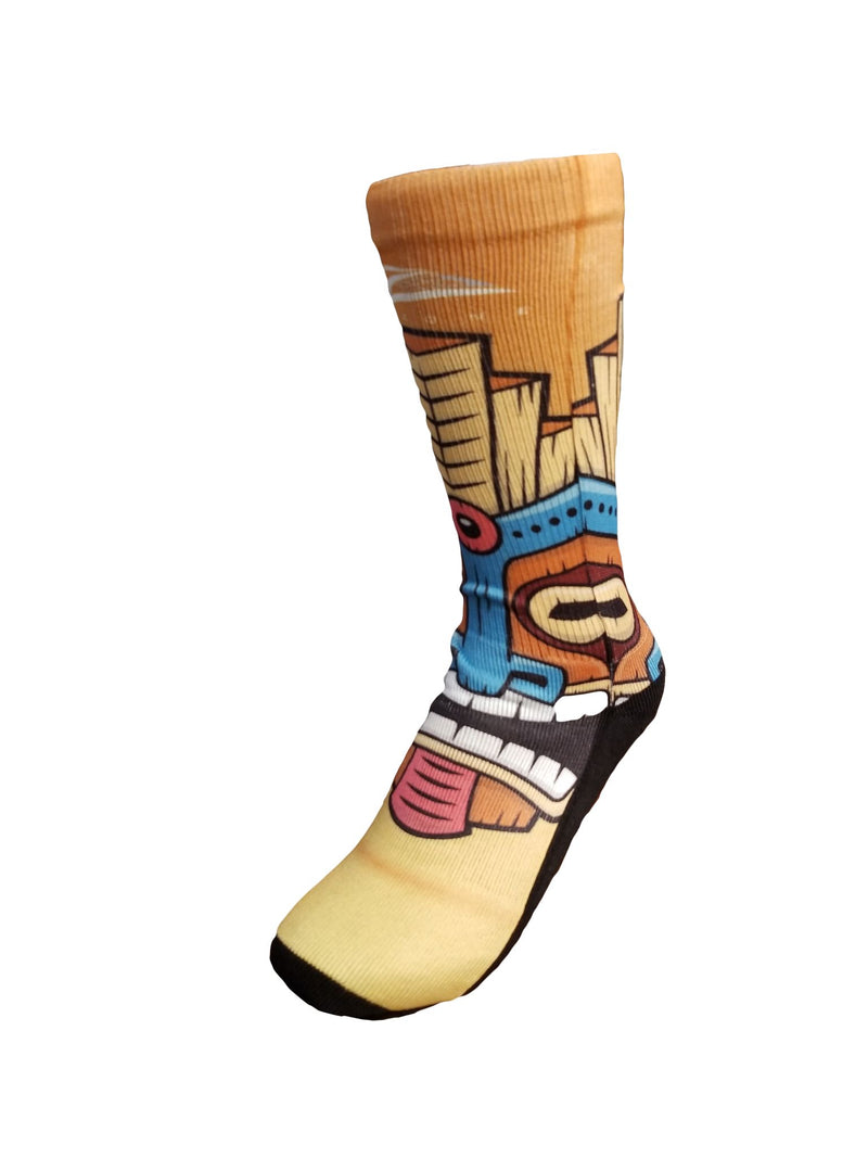 Lax Zone Tiki Socks Small