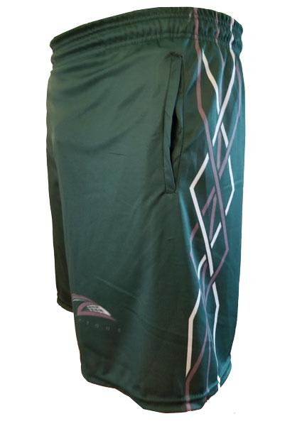 Lax Zone Twisted Shorts - Forest Green Youth Small