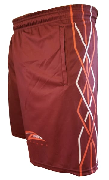 Lax Zone Twisted Shorts - Maroon Youth Small