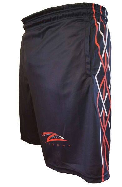 Lax Zone Twisted Shorts - Navy Youth Small