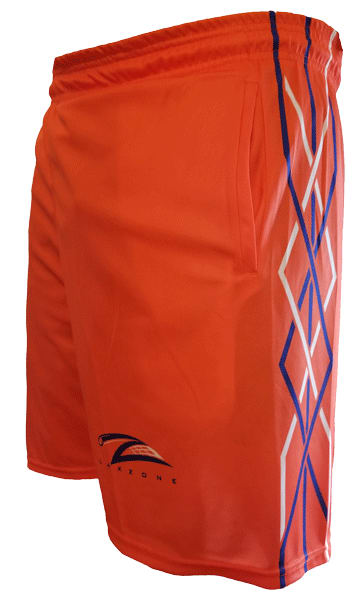 Lax Zone Twisted Shorts - Orange Youth Small