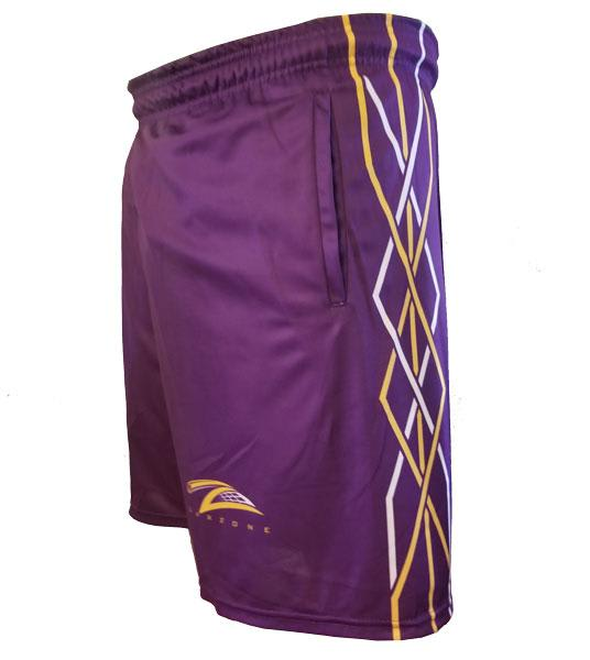Lax Zone Twisted Shorts - Purple Youth Small