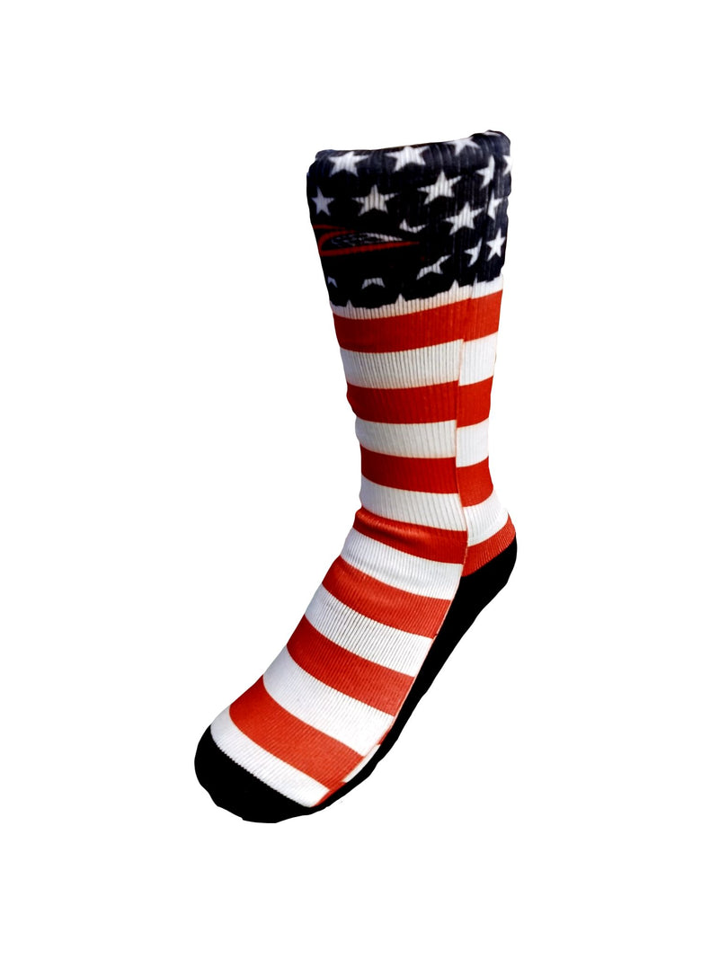 Lax Zone Usa Flag Socks Small