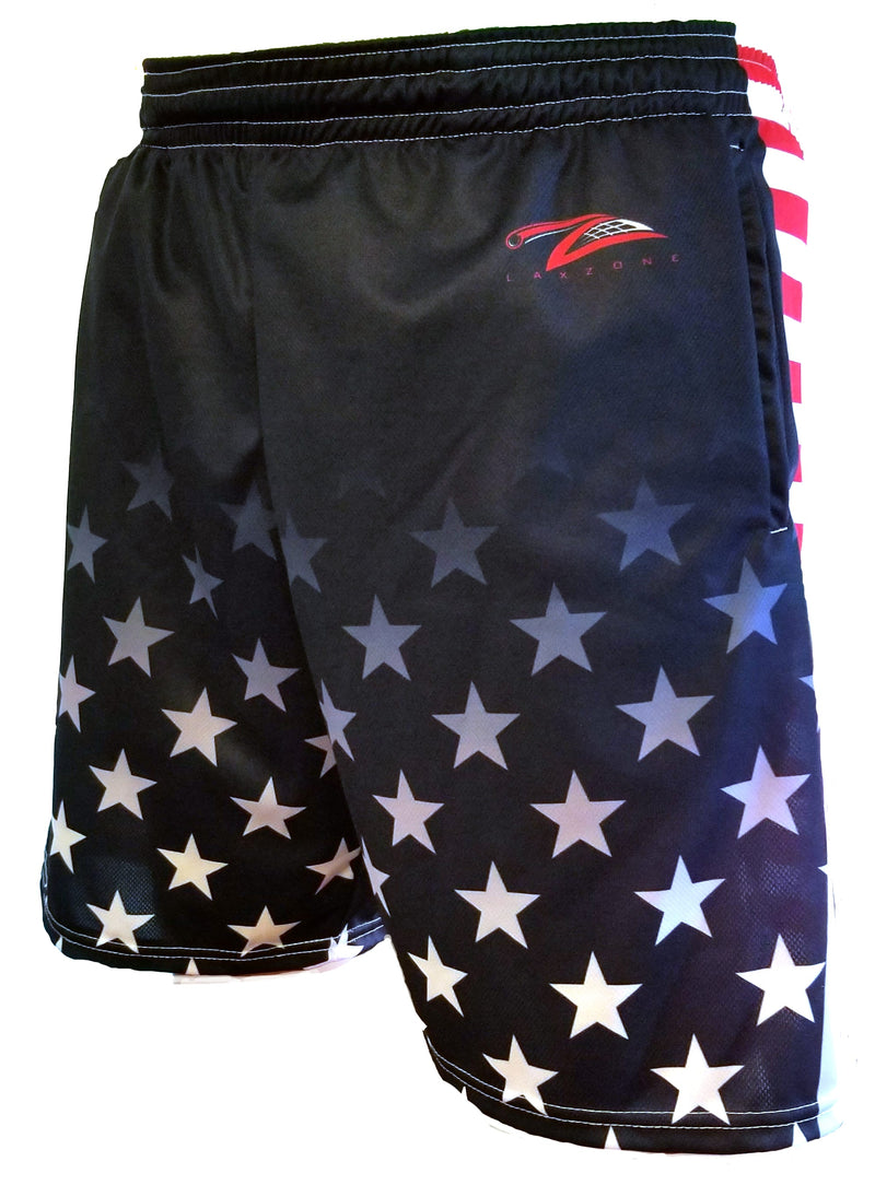 Lax Zone Usa Stars Shorts - Youth Small