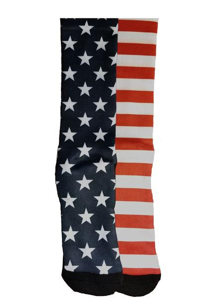 Lax Zone Usa Stars & Stripes Socks Medium