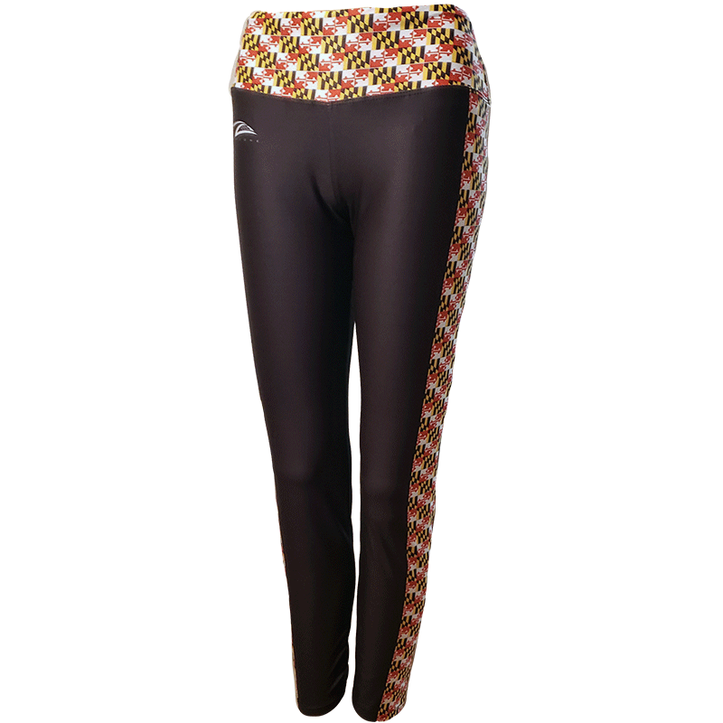 Lax Zone Maryland Flag Leggings