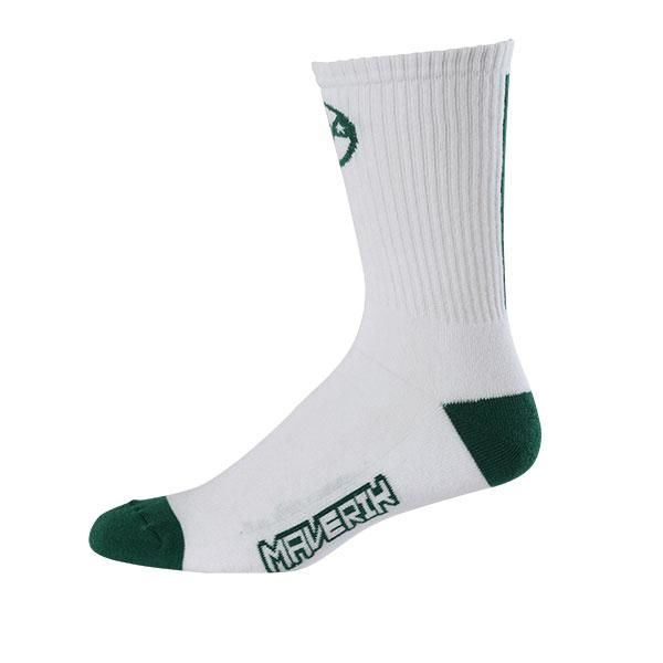Maverik Big Time Performance Crew Socks One Size / Green