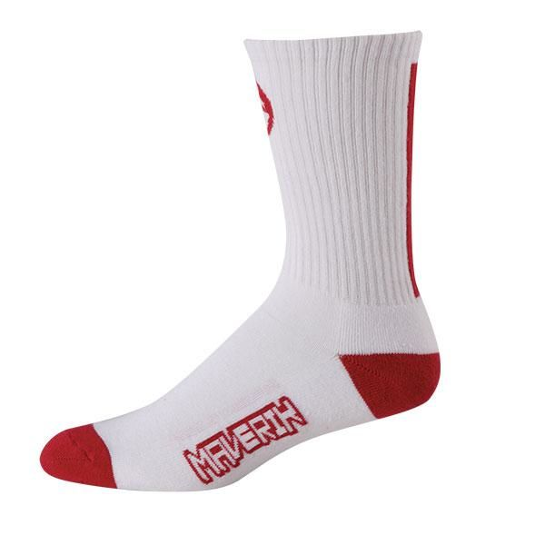 Maverik Big Time Performance Crew Socks One Size / Red