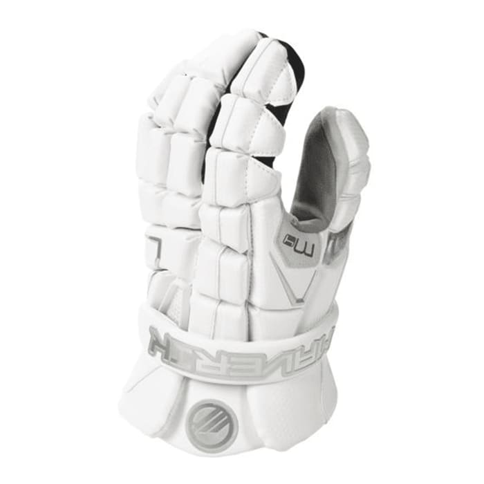 Maverik M4 Goalie Glove 13-Large / White Gloves