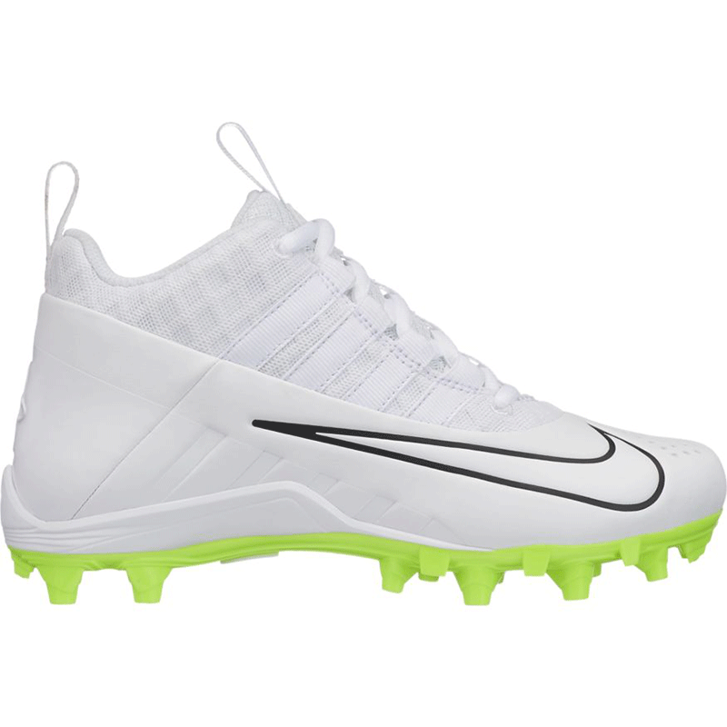 Nike Alpha Huarache 6 Pro Cleat -White/Volt