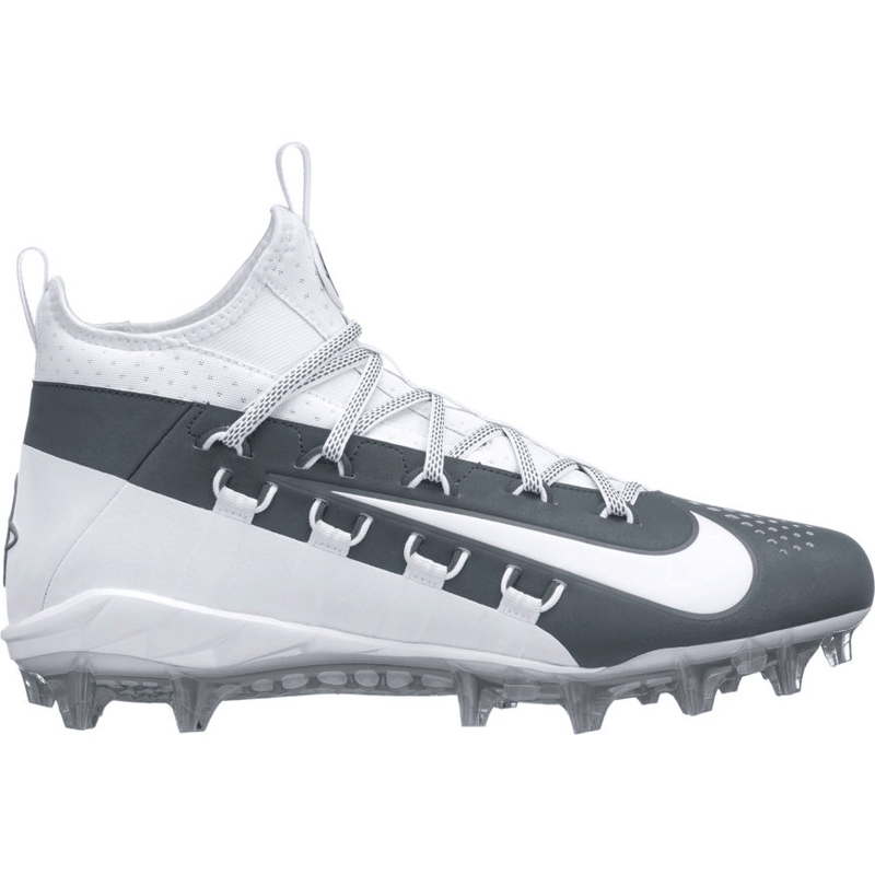 Nike Huarache 6 Elite Cleat - White/Grey