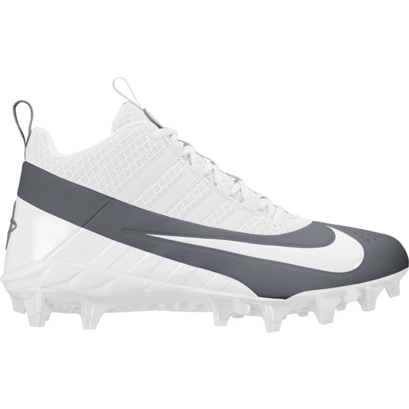 Nike Alpha Huarache 6 Pro Cleat - White/Cool Grey
