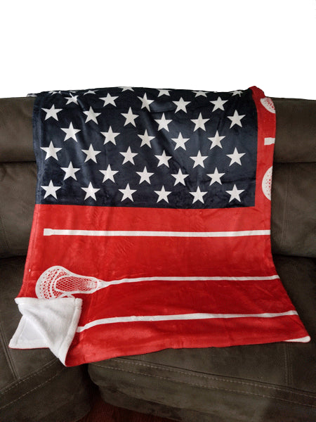 Usa Sticks Lacrosse Blanket