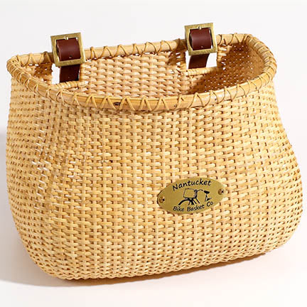 The Original Lightship Adult Bicycle Basket - Natural Finish