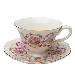 Butterfly Garden Porcelain Teacups - set of 4