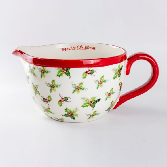 Holly Jolly Christmas Batter Bowl