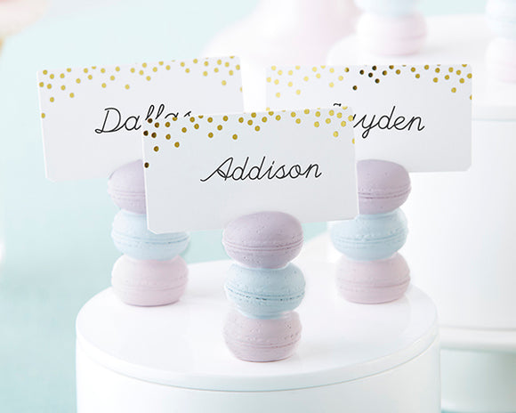 Macaron Placecard Holders - set of 6