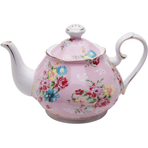 Pink Cottage Rose Teapot