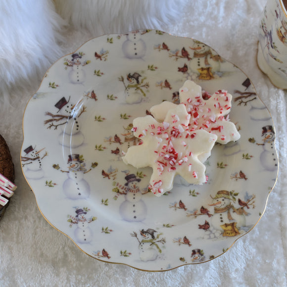 Snowman Dessert Plates - set of four - SOLD OUT