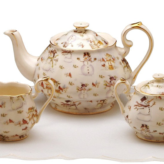 Snowman 3 Pc Tea Set- Teapot, Sugar Bowl, Pitcher - COMING SOON! Email to be put on the waitlist