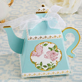 Teapot Favor Boxes in Pink or Blue - set of 24