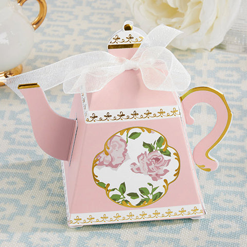 Teapot Favor Boxes in Pink or Blue - set of 24 - SOLD OUT until the end of July - join the wait list