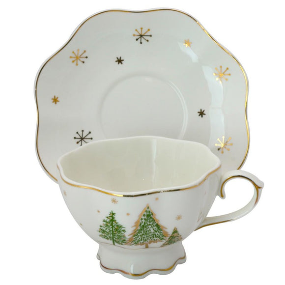 Winter Forest Teacups - set of 4