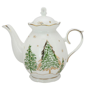 Winter Forest Porcelain Teapot