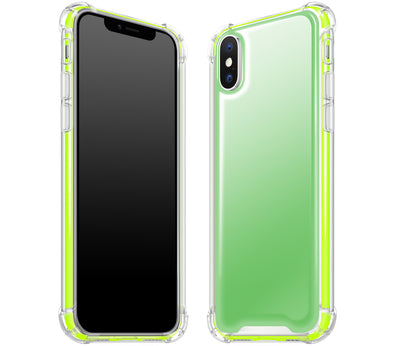 Green / Neon Yellow - Glow Gel iphone X Case