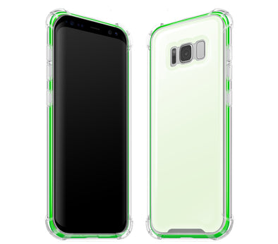 White / Neon Green - Glow Gel Case