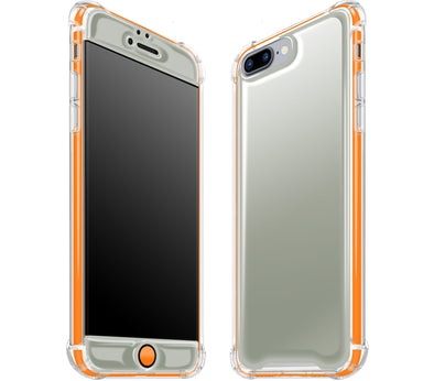 Gray / Neon Orange - Glow Gel iphone 7/8 Plus Case