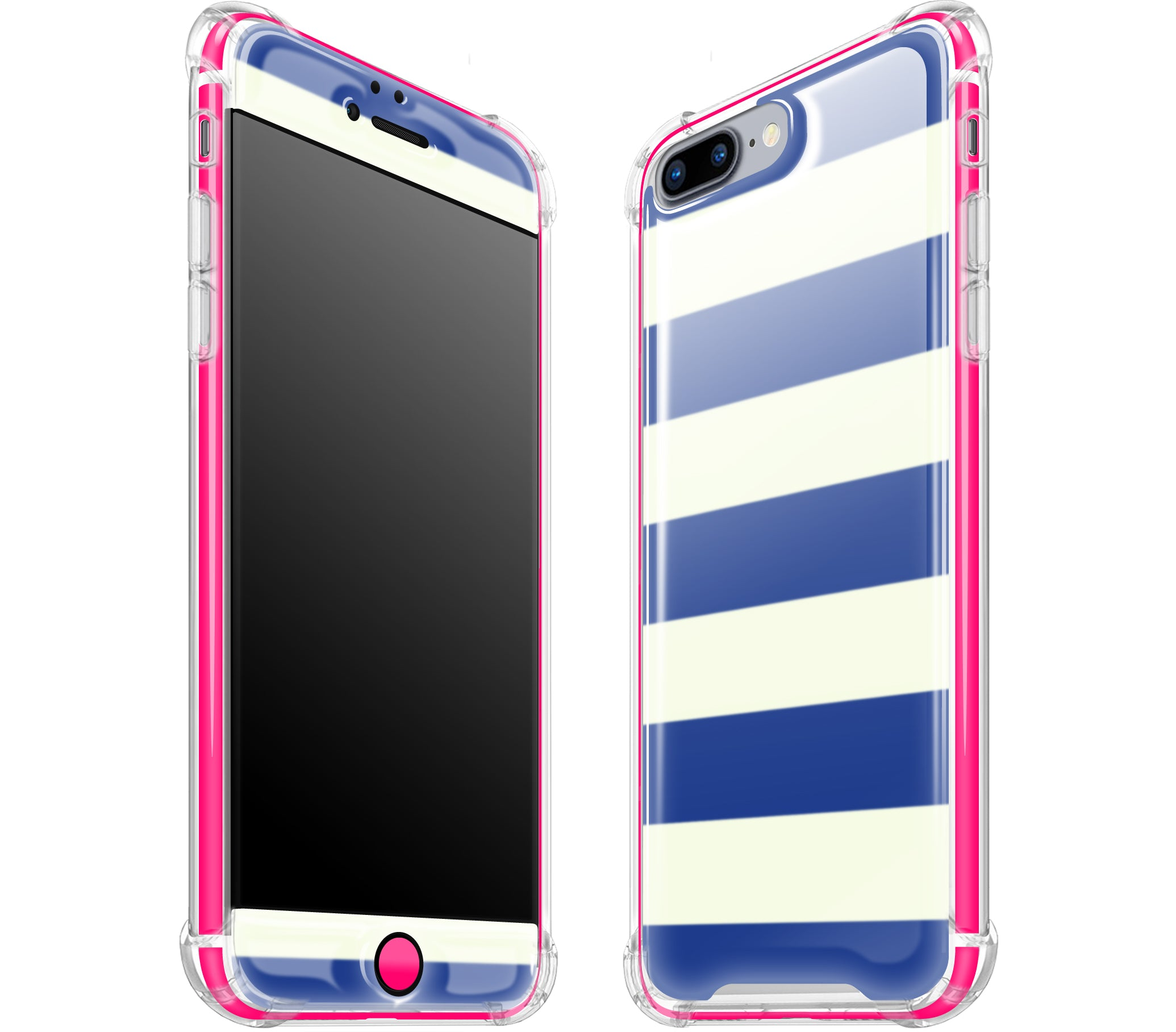 premium selection fe4c8 a0480 Nautical / Neon Pink - Glow Gel iphone 7/8 Plus Case -