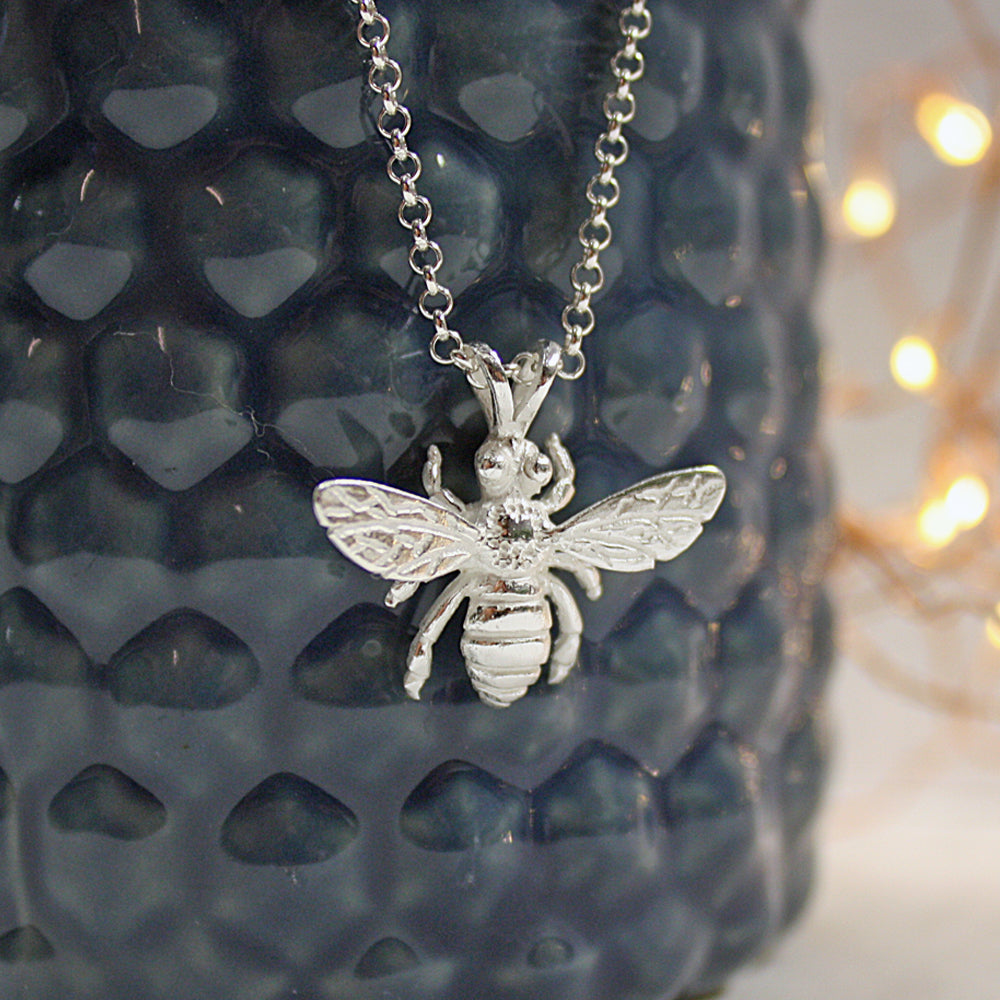 Sterling silver honey bee pendant iflscience store iflscience sterling silver honey bee pendant aloadofball Images