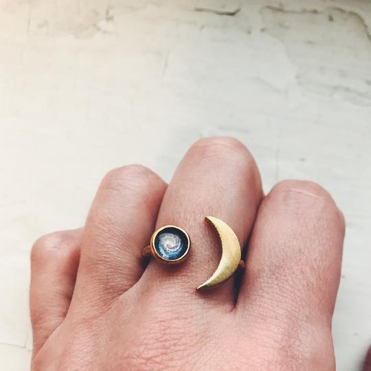 Crescent Moon Galaxy Ring
