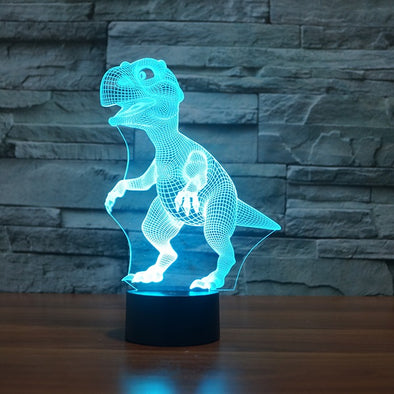 T-Rex Dinosaur 3D Optical Illusion Lamp