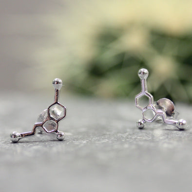 Sterling Silver Serotonin Stud Earrings