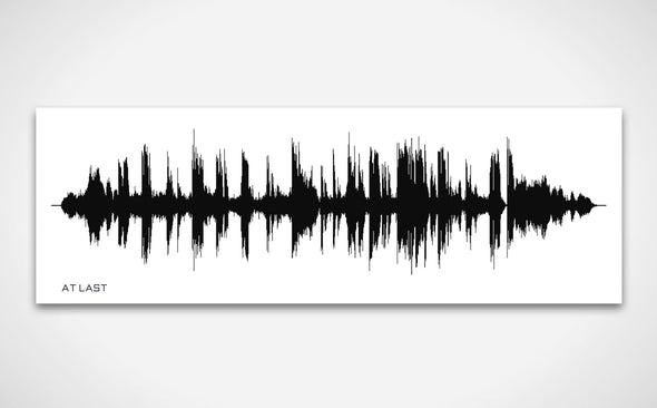 Favourite Song Sound Wave Print Black