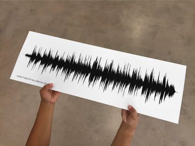Sound Wave Art Print - Color Black - With Your Favourite Song