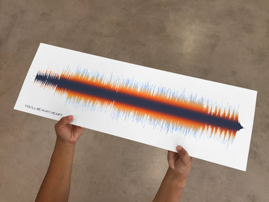 Sound Wave Art Print -Color Spectrum - With Your Favourite Song