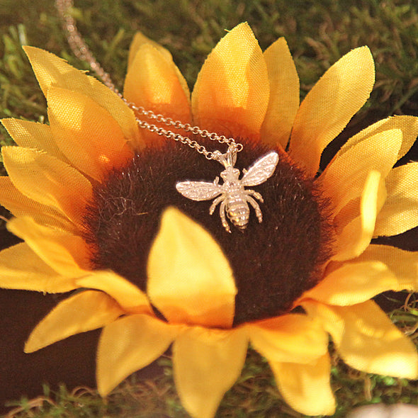 Sterling Silver Honey Bee Pendant