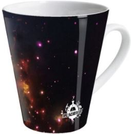 Black hole latte mug