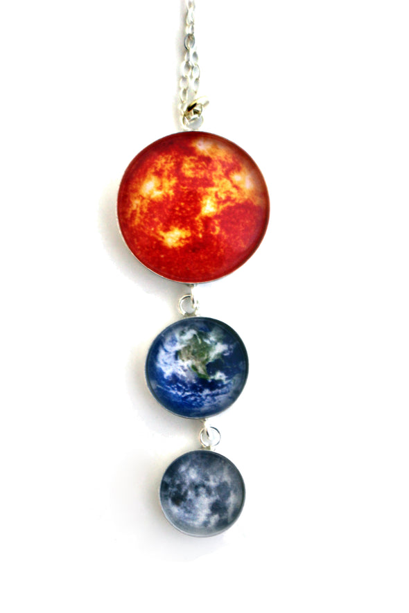 Sun, Earth, Moon Necklace