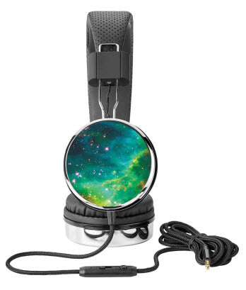 Mint Stars Galaxy Headphones