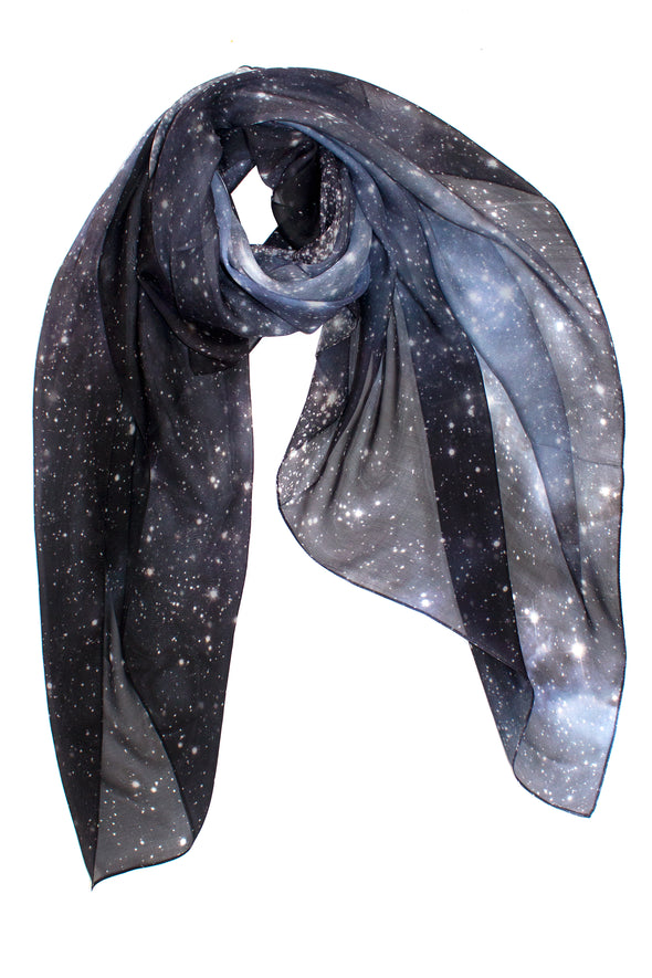 Hubble Galaxy Silk Scarf